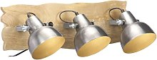 Industrial Wall Lamp Silver 68x23 cm E27 Mango