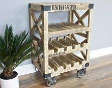 Industrial Wine Cabinet Rustic Metal Furniture