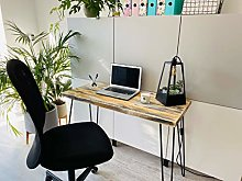 Industrial Wooden Home Office Desk/Table - Rustic