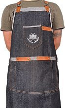 Indy Cool Suppliers Denim BBQ Apron with Leather