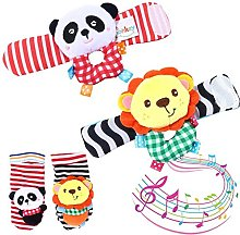 Infant Baby Foot Socks Wrist Bands Rattles Toys