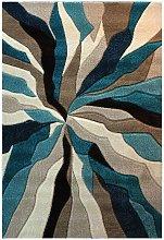 Infinite Splinter Teal Abstract 80x150cm