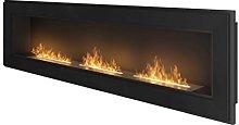 InFire Frame 1800 Ethanol Fireplace (Black)