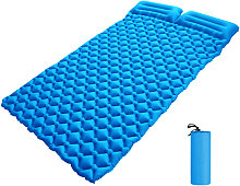 Inflatable Double Sleeping Pad with Pillow 2