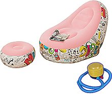 Inflatable Lazy Sofa with Foot Cushion