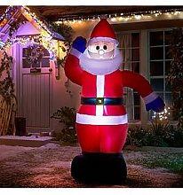 Inflatable Light Up Santa Outdoor Christmas