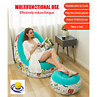 Inflatable Sofa Chair Deluxe Lounger Ottoman Couch
