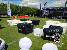 Inflatable sofa, Chesterfield style, 2-seater,