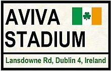 Inga Rugby-Fireplace Street Signs Aviva Stadium