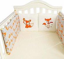Ingeniously 6 PCS/Set Baby Bed Bumper, 3030cm Fox