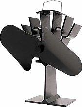INGLENOOK 2 Blade Stove Fan Black Heat Powered Fan
