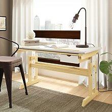 Ingrid Height Adjustable Standing Desk Natur Pur