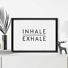 Inhale Exhale Scandi Wall Art Print | Minimalist
