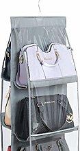 INHEMI Handbag Storage Organiser,6 Pockets Clear