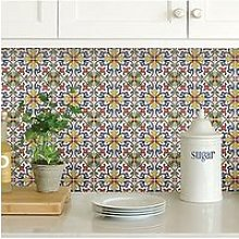 Inhome Pack Of 4 Tuscan Tile Peel &Amp; Stick
