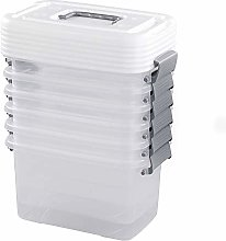 Inhouse Stackable Clear plastic boxes with lids