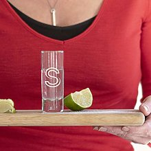 Initial Personalised Engraved Shot Glass, Great