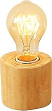 Injuicy Loft Industrial Wooden Base E27 Edison Led