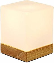 INJUICY Mini Cube Table Lamps, Glass Shade &