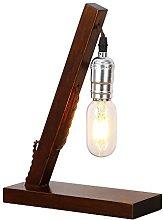 INJUICY Vintage Wooden Table Lamps, Wood & Metal