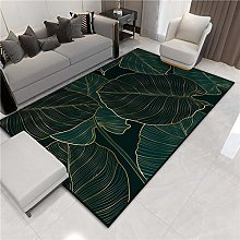 Ink green roll leaves and durable area carpets,