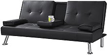 inkertonk Cheap Faux Leather TV Cinema Sofa Bed on