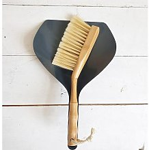 Inle Home - Bamboo and Metal Dustpan & Brush Grey