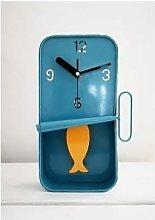 Inle Home - Blue Sardine Clock