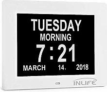 INLIFE Dementia Clocks Calendar Clock Day Date