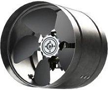 Inline Duct Fan 210mm Zinc Plated Metal aRw