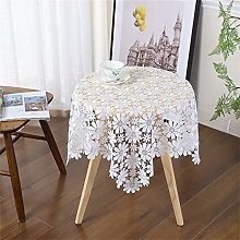 Inmerget 2PCS White Lace Small Square Tablecloth