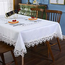 Inmerget Elegant White Lace Tablecloth Table Cover