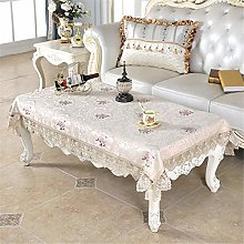 Inmerget Embroidered Beige Blue Tablecloth