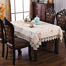 Inmerget Embroidered Beige Tablecloth Rectangle