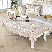 Inmerget Embroidered Small Brown Tablecloth