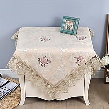Inmerget Lace Small Beige Square Tablecloth for