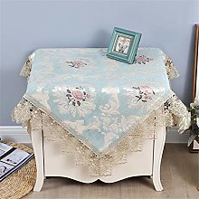 Inmerget Lace Small Blue Square Tablecloth for