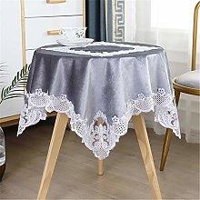 Inmerget Nordic Style Gray Velvet Small Tablecloth