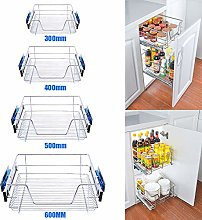 INMOZATA 2xPull Out Kitchen Basket, Slide Out Wire