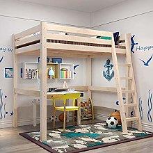INMOZATA 3ft High Sleeper Cabin Bed Loft Bunk Bed