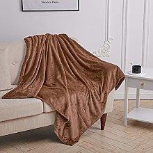 INMOZATA Coffee Bed Throws Fleece Throw Blanket