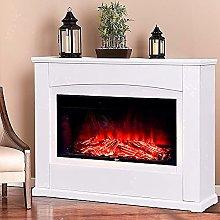 INMOZATA Electric Fire and Surround 50 inch White