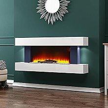 INMOZATA Electric Fireplace Wall Mounted Recessed
