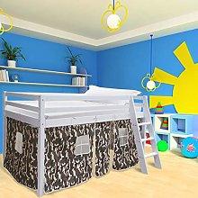 INMOZATA Solid Wooden Cabin Bed Mid Sleeper Bunk