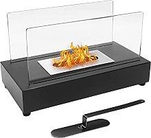 INMOZATA Tabletop Bioethanol Fireplace with Fire