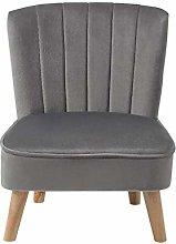 INMOZATA Upholstered Chair Velvet Occasional