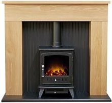 Innsbruck Stove Fireplace in Oak with Aviemore