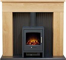 Innsbruck Stove Fireplace in Oak with Bergen