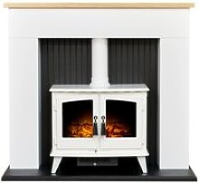 Innsbruck Stove Fireplace in Pure White with