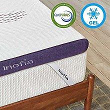 Inofia Gel Memory Foam Mattress Topper, 8CM GELEX